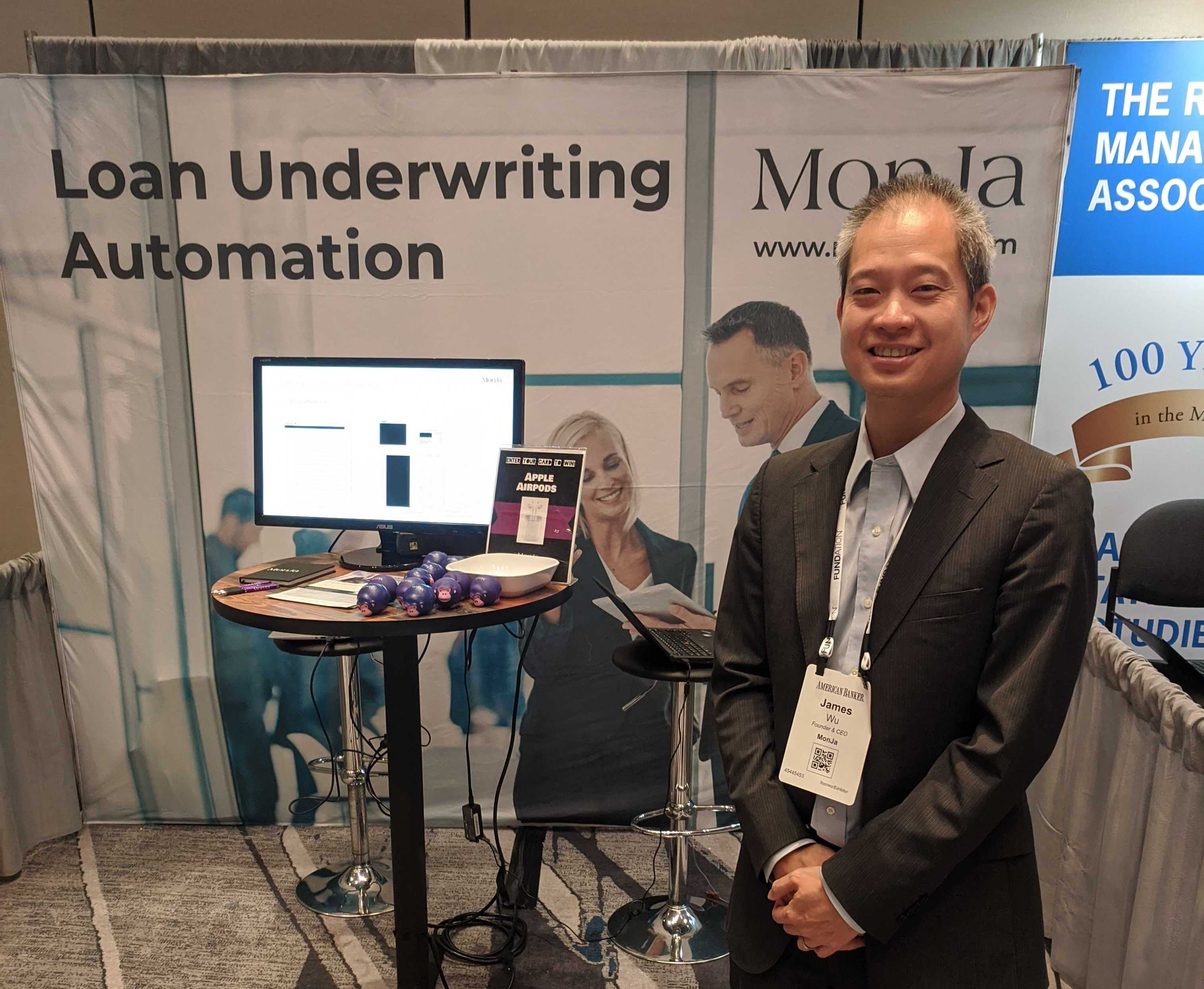 James Wu and MonJa's booth at Small Biz: Banking Conference in Los Angeles